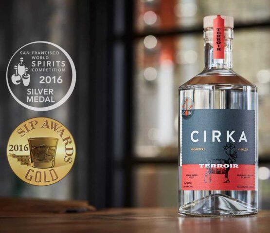 Cirka Vodka Terrroir with medals